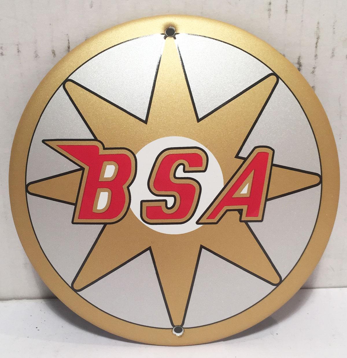 BSA Logo Emaille Bord