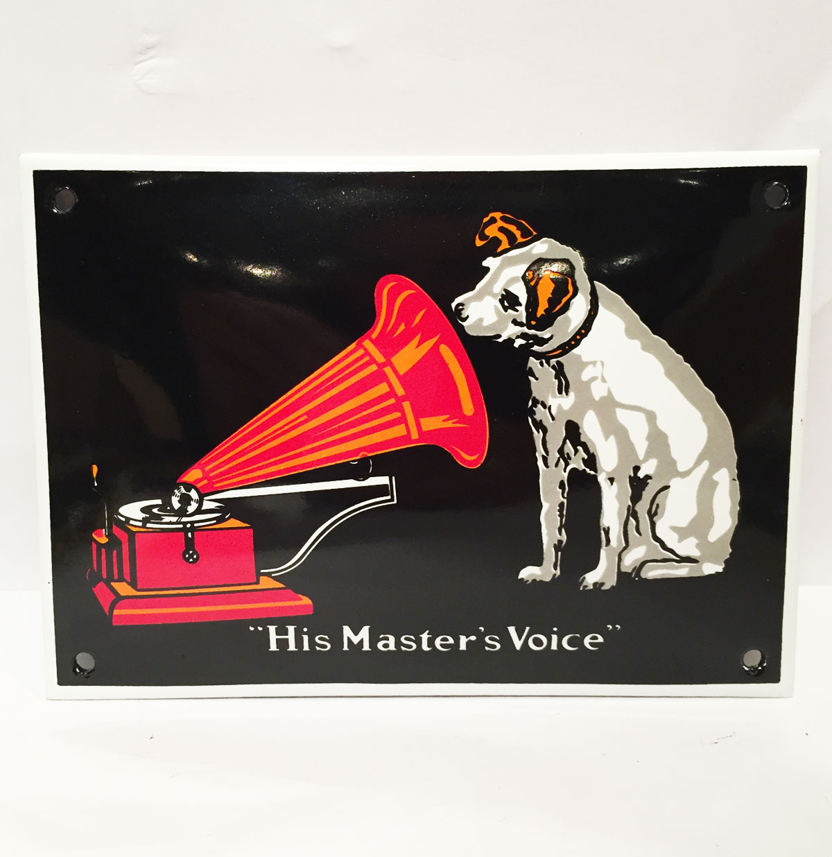 His Master's Voice Emaille Bord