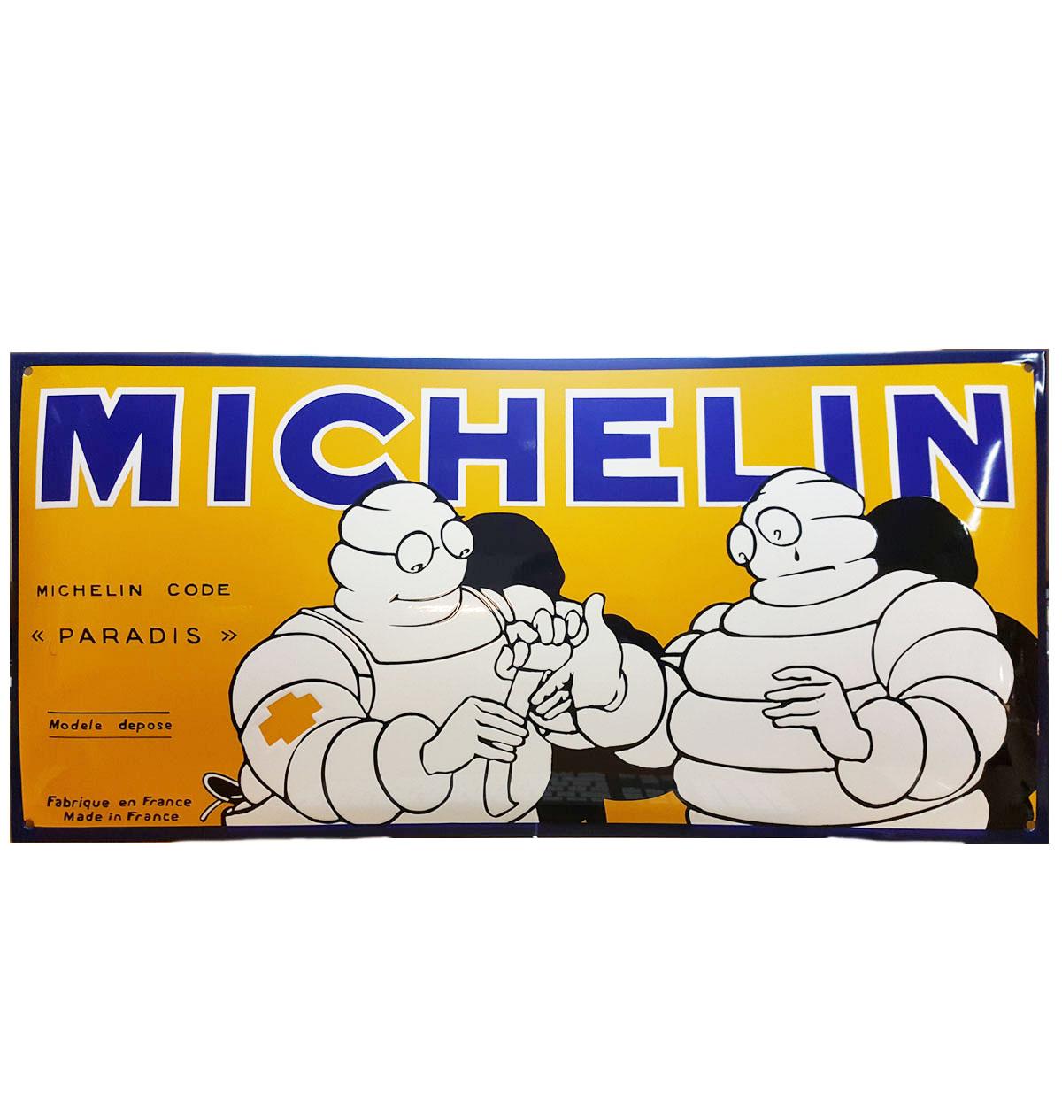 Michelin Zwaar Emaille Bord