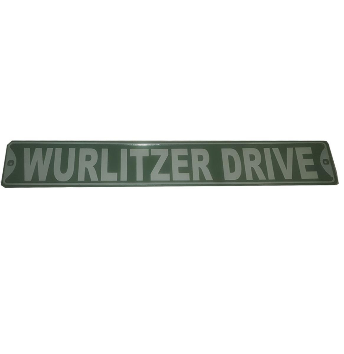 Wurlitzer Drive Metalen Bord - Groen