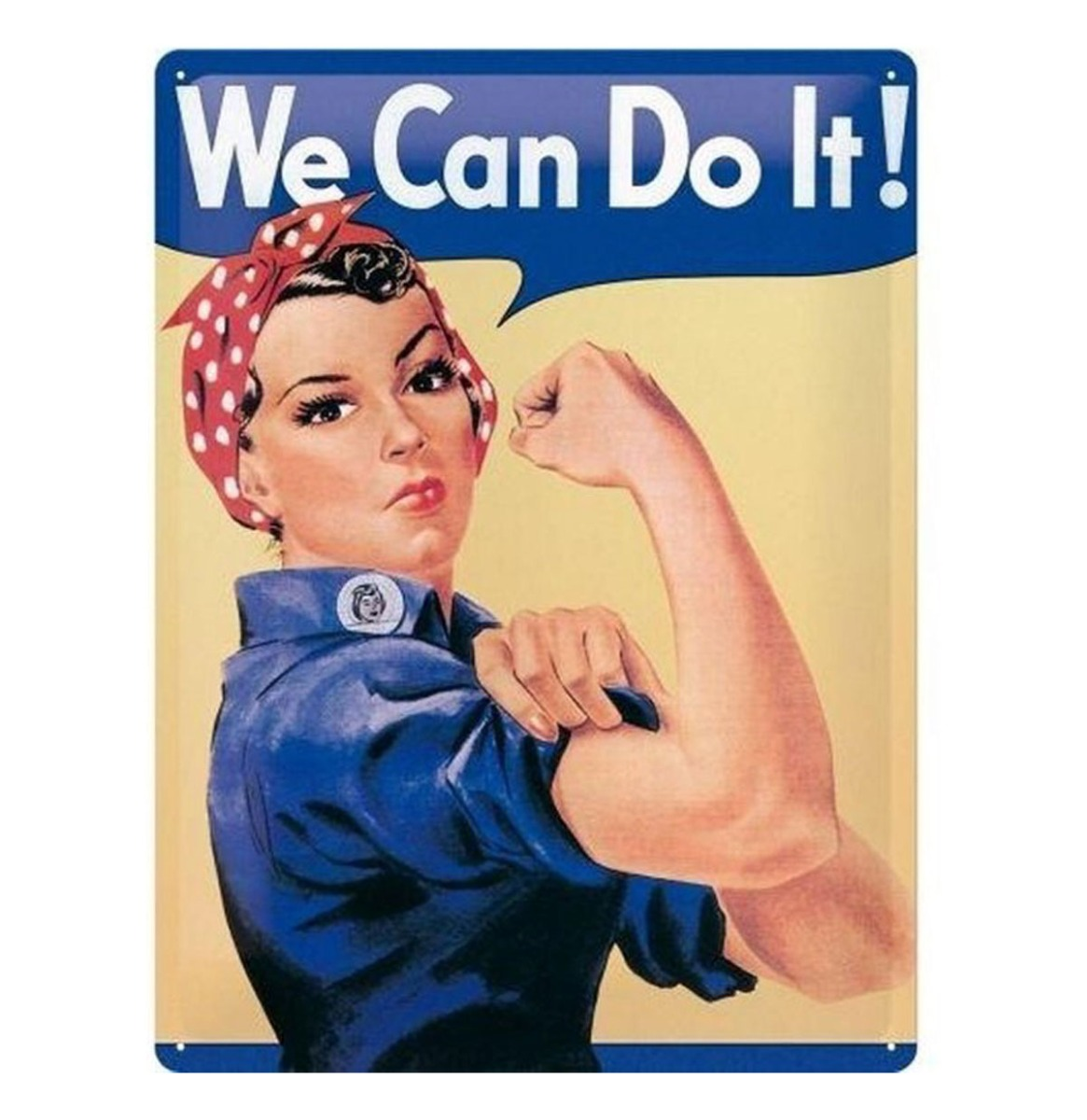 We Can Do It Metalen Bord 20 x 30
