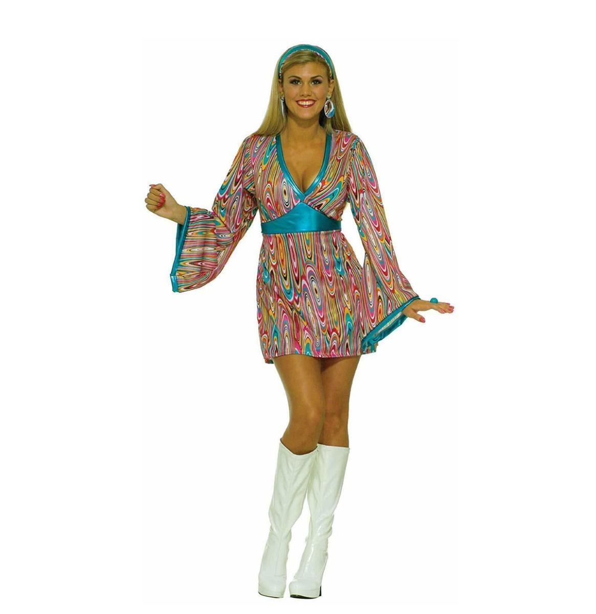 60's Wild Swirl Dress