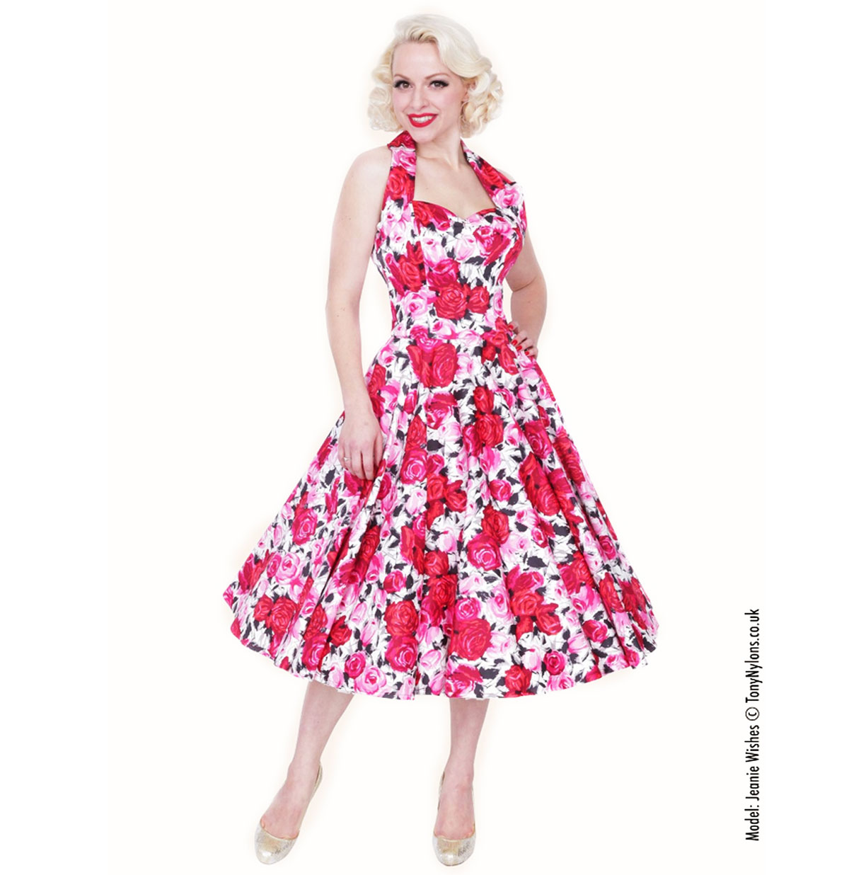 Wild Rose Dress Cerise