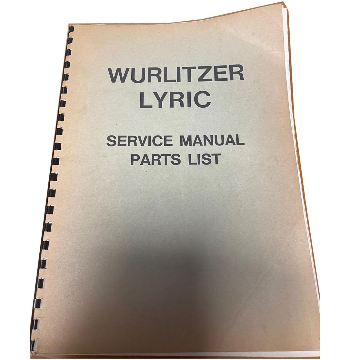 Wurlitzer Lyric FC And Console Service Manual 1967 Origineel