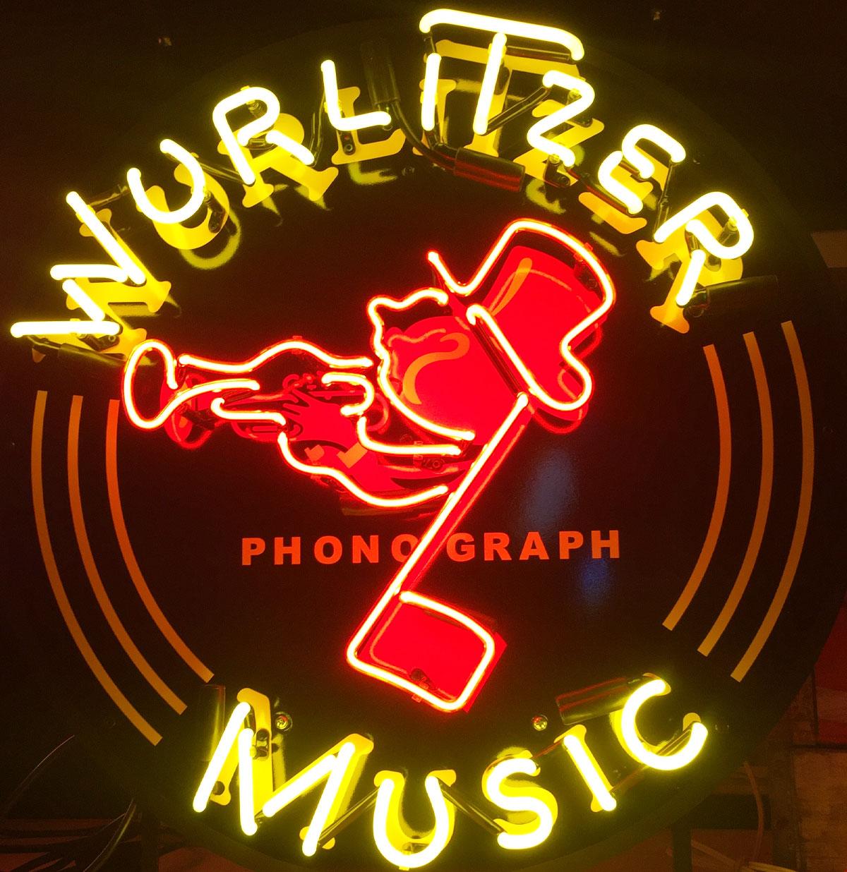 Wurlitzer Johnny One Note Neon Verlichting Met Achterplaat 64 x 64 cm