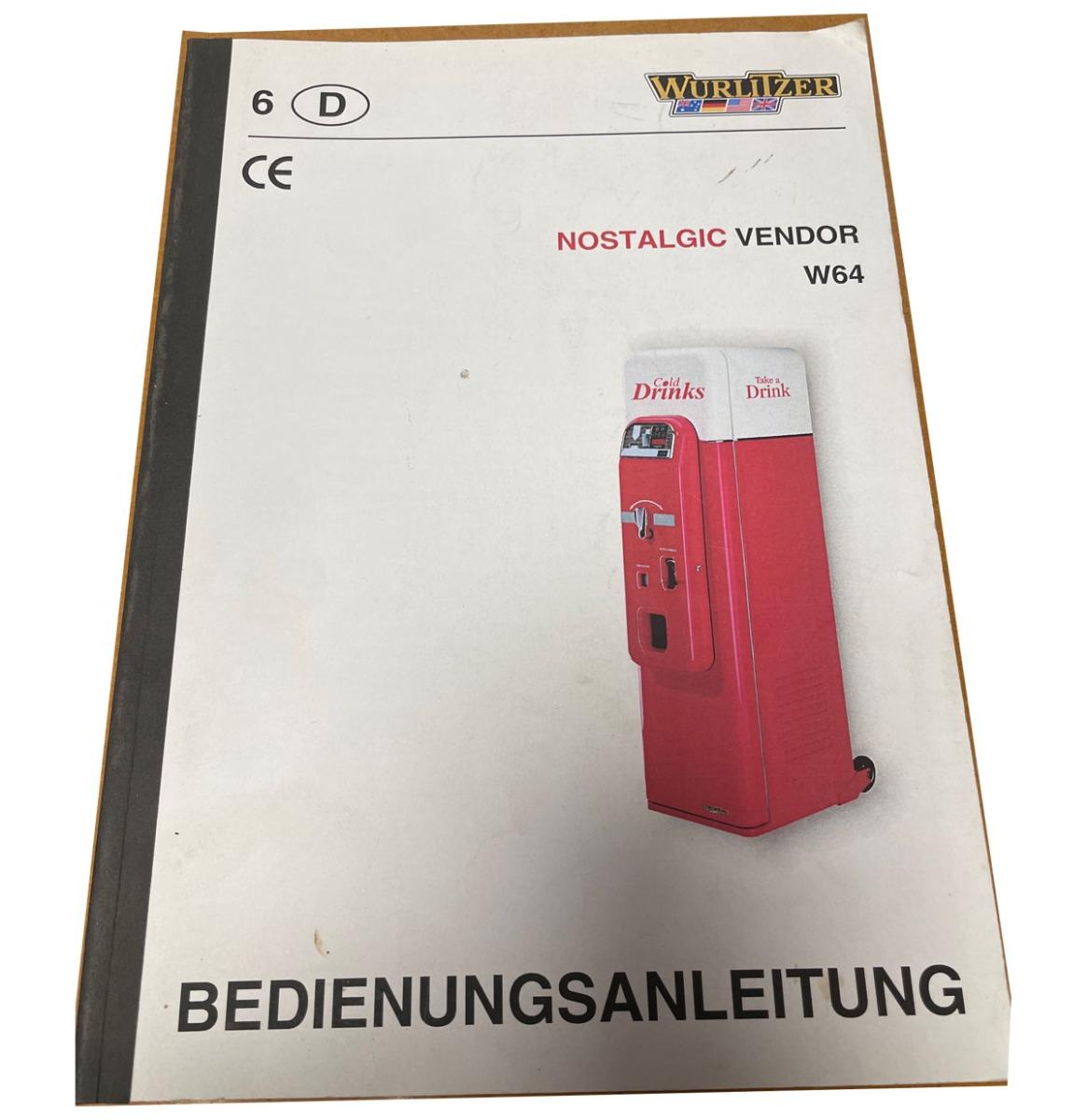 Wurlitzer W64 Vendor Manual Duits