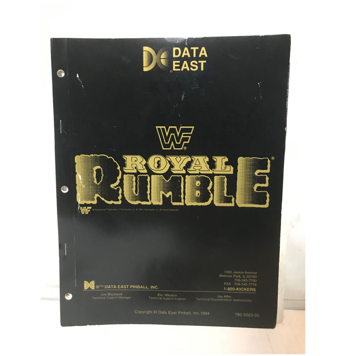 WWF Royal Rumble Flipperkast Handleiding 1994