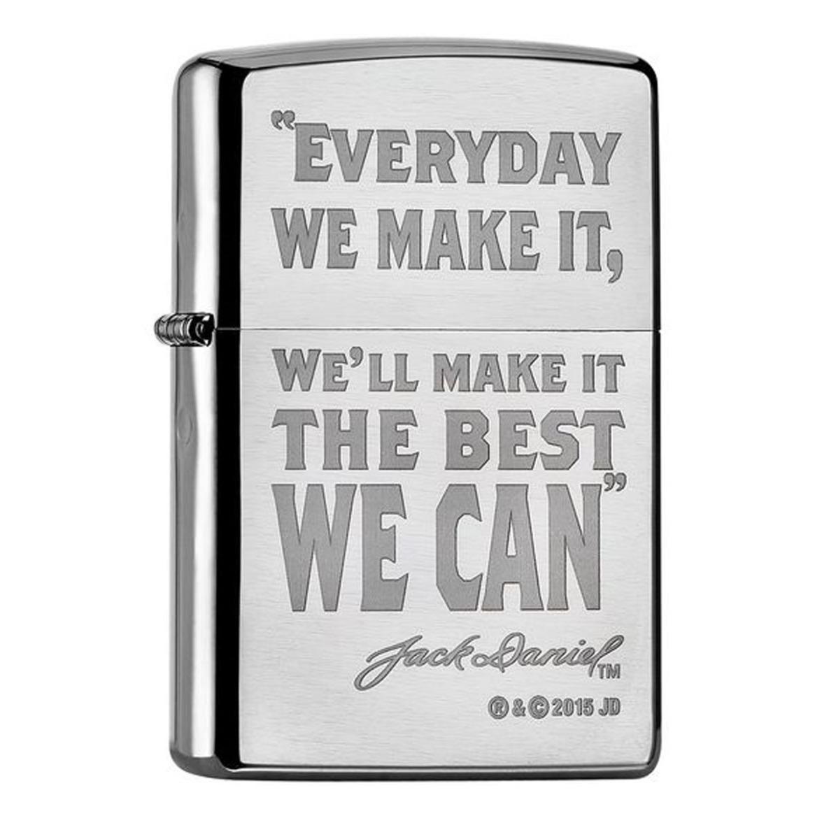 Zippo Aansteker Jack Daniel's Everyday We Make It, We'll Make It The Best We Can