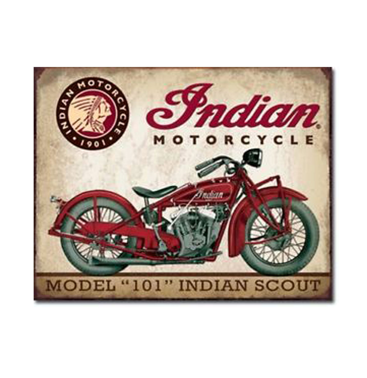 Metal Poster Indian Motorcycle Model 101 Indian Scout