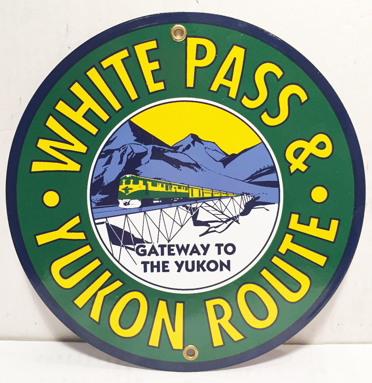 White Pass and Yukon Route Emaille Logo Bord